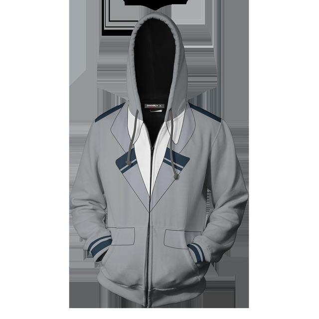 Bakugou Katsuki Cosplay Hoodie My Hero Academia printed zip-up hoodies