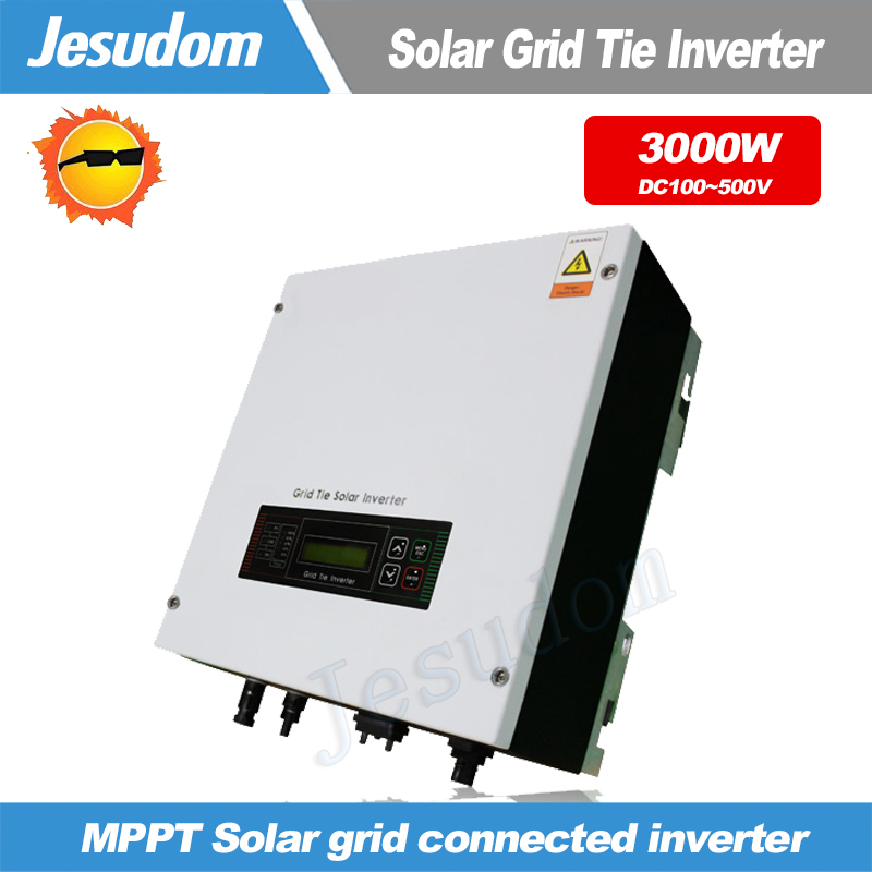 3000W Grid Tie Inverter MPPT Function Pure Sine Wave Output On grid Inverter for Solar Power