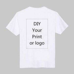 Image 4 - Camiseta de impresión personalizada, camiseta DIY con foto o logotipo, camisetas blancas, talla S 4XL, proceso de transferencia térmica, 2 100 Uds.