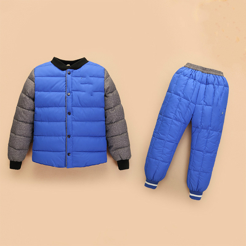 New Children's Down Jacket Autumn and Winter Boys Girls Down Liner  Baby Down Pants Two Sets 2016 winter new soft bottom solid color baby shoes for little boys and girls plus velvet warm baby toddler shoes free shipping