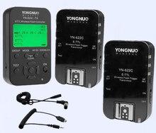 Высокое качество Yongnuo YN-622C YN622c 622C-TX TTL вспышка триггера установить, бесплатная доставка 1 передатчик + 2 приемники для Canon DSLR