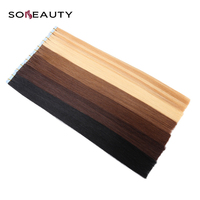 141618202224 Tape In Human Hair Extensions Straight Remy On Adhesive Invisible PU Weft Extension thick bottom