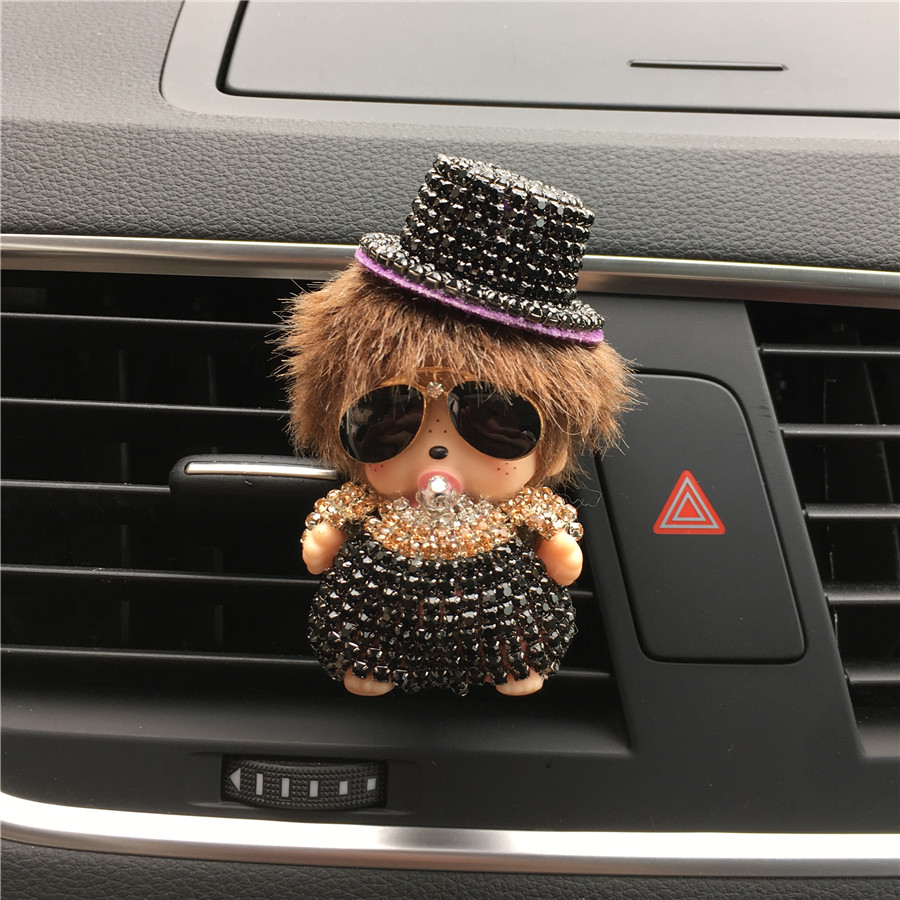 Pattern Monchi Car Outlet Perfume With A Hat With Sunglasses Kiki Air Port Vehicle Perfume Car Styling Perfumes 100 Original