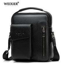 купить Men's Shoulder bag Handbag Leather material British Casual Fashion College Style Multi-function Large capacity Design дешево