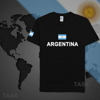 Argentina mens t shirt Argentine 2017 jerseys hip hop nations 100% cotton t-shirt footballs fitness clothing tee country flag AR