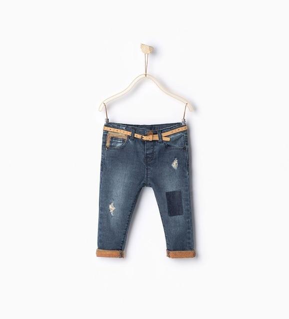 Новый бренд ребенок джинсовые брюки моды девочка узкие джинсы детская одежда сломанные тонкие джинсы для девочек 9-36 М