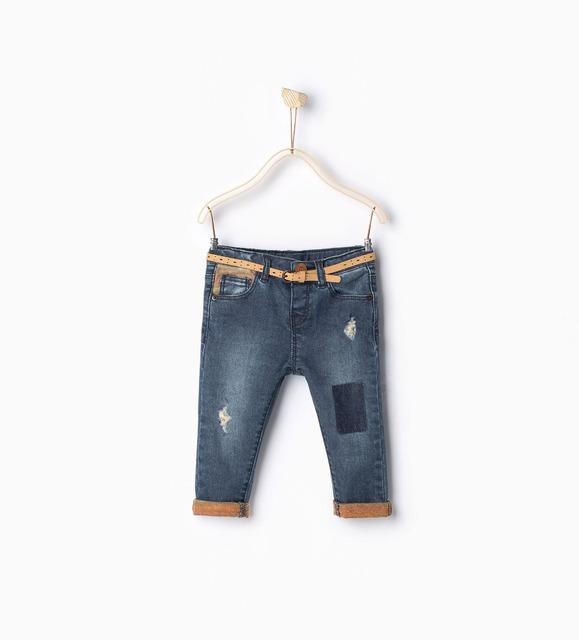 Nova marca do bebê calças jeans da moda bebê da menina jeans skinny crianças desgaste quebrado magros das calças de brim para meninas 9-36 M