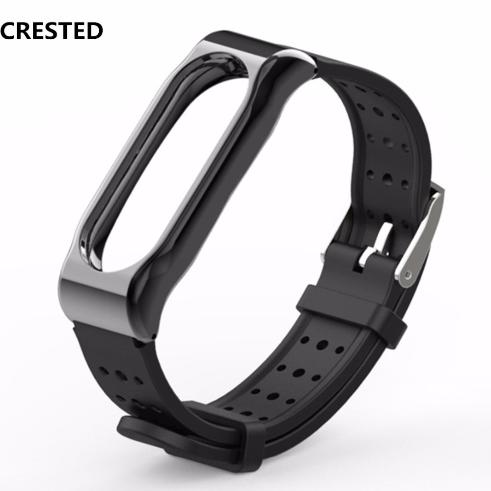 Mi Band 2 Strap Bracelet Miband 2 Sport Wrist Band Correa Pulseira Silicone Stainless Steel Buckle Watch Accessorie