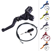 Motorcycle Master Cylinder Lever Hydraulic Clutch Oil Hose Line Pipe Rear Foot Brake Pull RodAtv Dirt Pit Bike Tubing Braid Stee