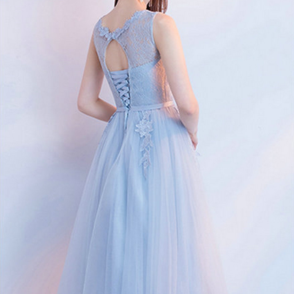 Elegant Light Blue Bridesmaid Dresses Short 2018 Wedding Party Gown ...