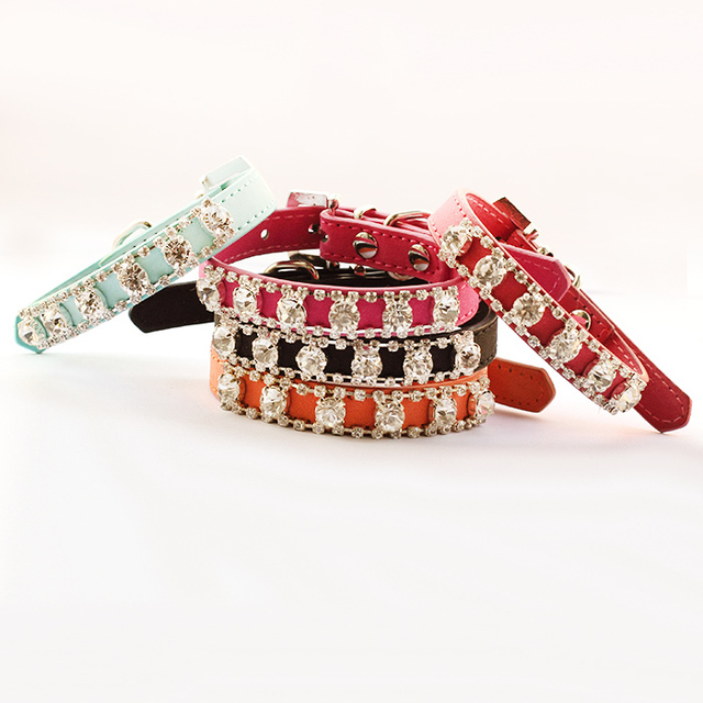 dreambows Rhinestone Chain Princess Small Dog Collar 6041009 Pet Puppy Fashion Traction Collars