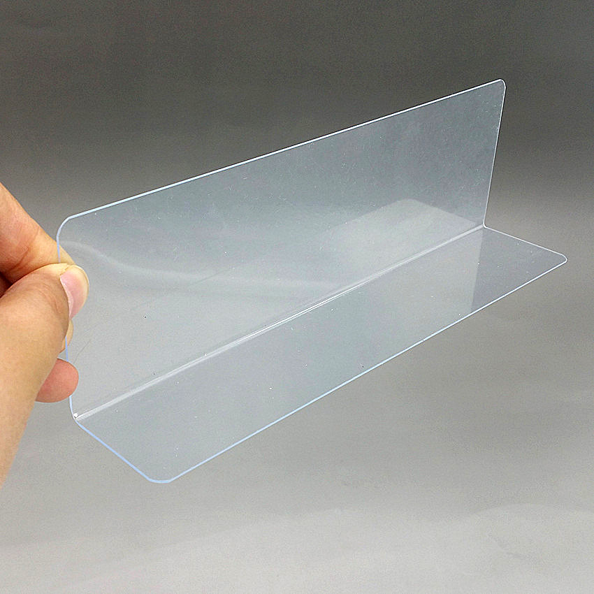 Plastic PVC Thick 0.8mm Clear Storage Rack Shelf Dividers Side Splitter Holder In Supermarket Retail Stores 1000pcs