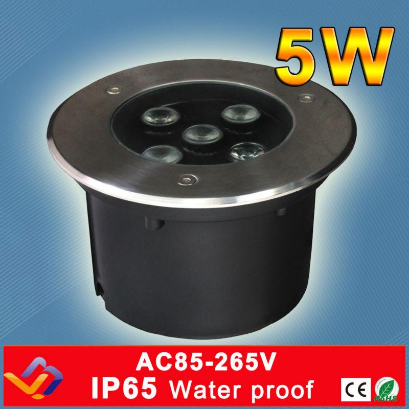 5 * 1W στρογγυλό οδήγησε υπόγειο φως Σκάλες Στάδιο Φωτιστικό κήπου Φωτιστικό εξωτερικού χώρου Θάλαμος δαπέδου αδιάβροχο από ανοξείδωτο χάλυβα Υπόγειος λαμπτήρας