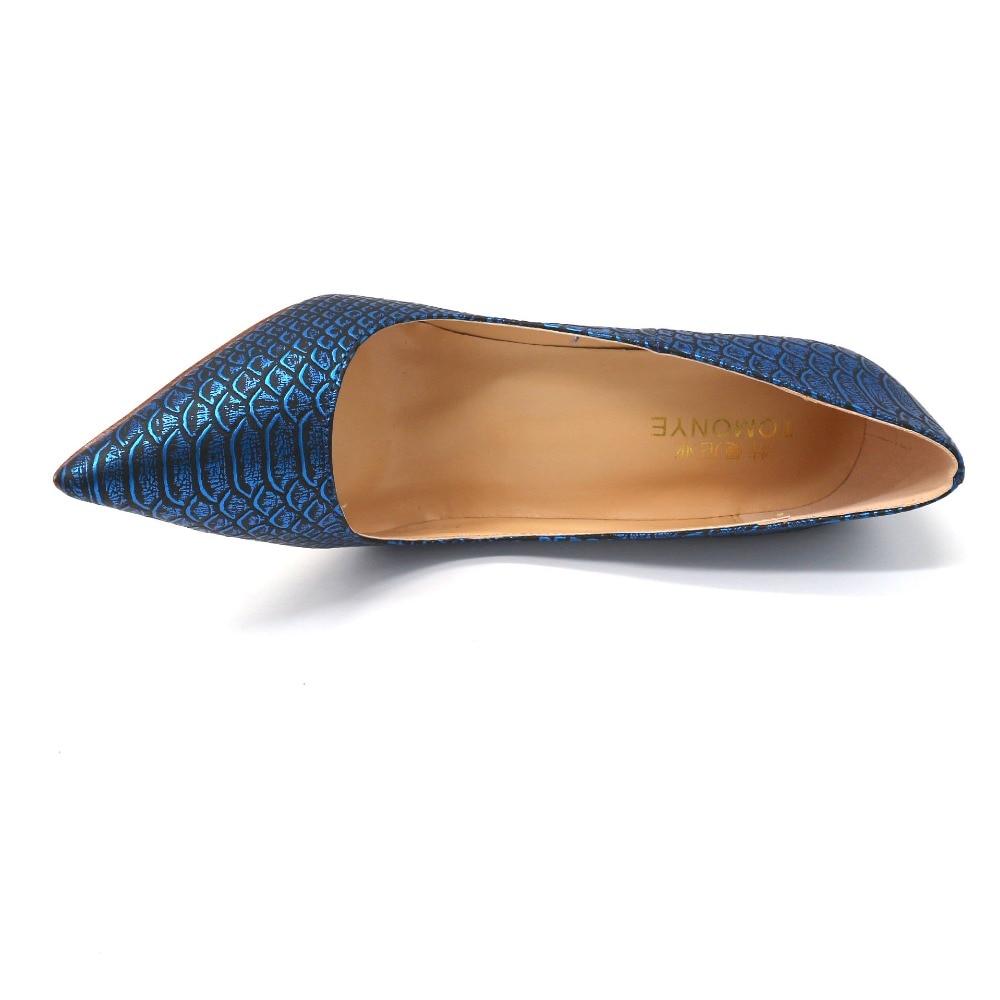 Sexy 45 Snake Heel Plus Größe Kleine 34 Schuhe 2019 44 12 Pumpe Spitz Cm Neue Python High Designer Blue Royal Abend 33 pTBT8nv