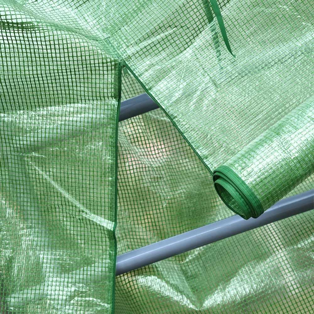 נייד פלסטיק גן חממה כיסוי עבור 2 שכבה מיני ללכת בחממה חיצוני להגן על צמחים פרחים (אין ברזל Stand)