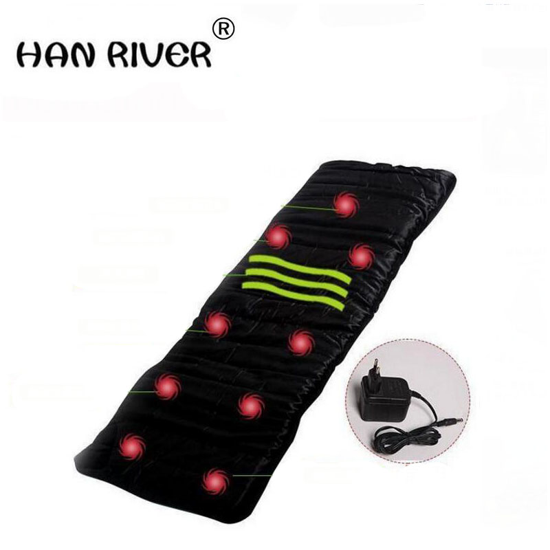 2018 Health Monitors Massager Acupunctue Mat 9 Vibrating Motors Full Body Far Infrared Heat Heathy Massage Cushion Seat Mattress chronic prostatitis treatment cushion far infrared heat plus vibration massage therapy for prostate discomfort relief