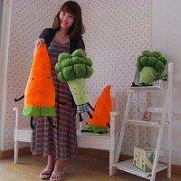 55 см-70 см моделирование фрукты и овощи морковь брокколи плюшевые игрушки творческой подушка