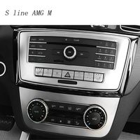Car Styling Air Conditioning CD Panel Cover Sticker Trim For Mercedes Benz ML X166 GLE Coupe C292 GLS Vehicle Auto Accessories