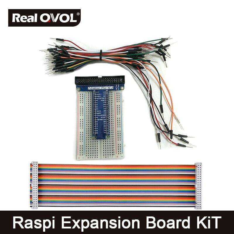 Raspberry Pi 3 T Kit DIY Placa de Expansão 40 Extensão Pin placa de Adaptador para Raspberry Pi com GPIO Cable & Jumper Fio
