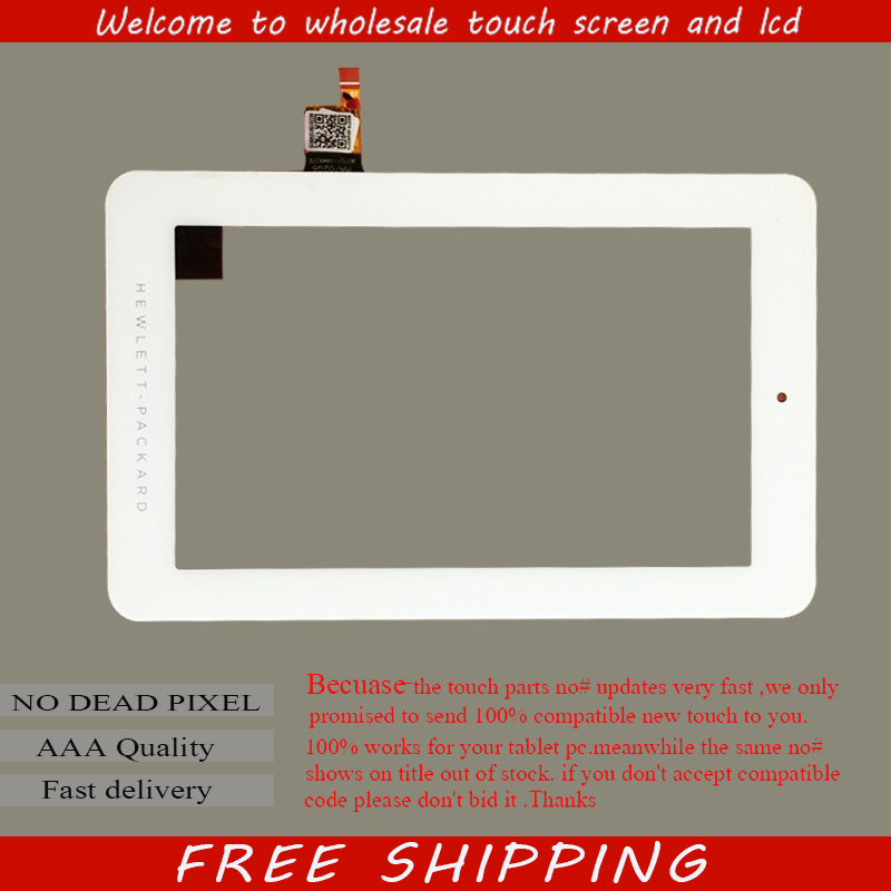 Free shipping 7 inch touch screen,100% New for HP 7 plus touch panel,Tablet PC touch panel digitizer MA702Q6 80701-0A4837E original new 10 1 inch touch panel for acer iconia tab a200 tablet pc touch screen digitizer glass panel free shipping