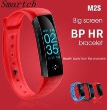 Smartch трекер фитнес-браслеты браслет M2S Браслет Шагомер Смарт часы крови Давление smartband для iOS $