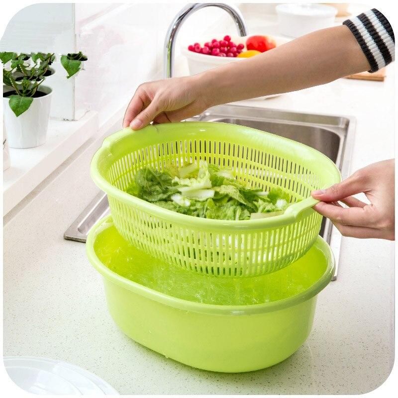 Large Plastic Kitchen Vegetables Pots Fruit Basket Storage