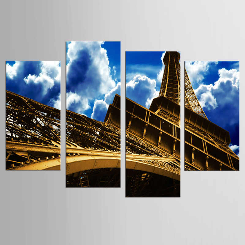 4Pcs/Set Cuadros Posters And Prints Wall Art Canvas Painting Wall Pictures For Living Room Nordic Decoration Eiffel Tower Poster