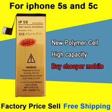 Brand New Good Quality 1560mAh Golden Mobile Phone Battery for iPhone 5S 5C Battery Free Shipping