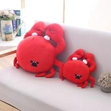 30cm/50cm Kawaii Funny Crab Plush Pillow Soft Red Stuffed Cartoon Animal Toy Sofa Home Decoration Cushion Doll Friends Gift