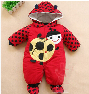 Newborn Baby Girls Clothing Coral Fleece Winter Boy Rompers Cartoson Infant Clothes Meninas Bear Down Snowsuit Babies Jumpsuit