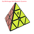 Qiyi Pyraminx X-MAN Qiyi (Mofangge) Campana Magnética Pyraminx Velocidad Cubo Negro/Blanco/Stickerless Cubo Mágico Puzzle juguetes Para Los Niños