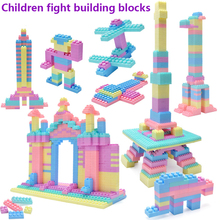 144-1008pcs Macaron Color Building Block Toys Compatible City  for Childrens Diy Baby Intelligence Benefiting
