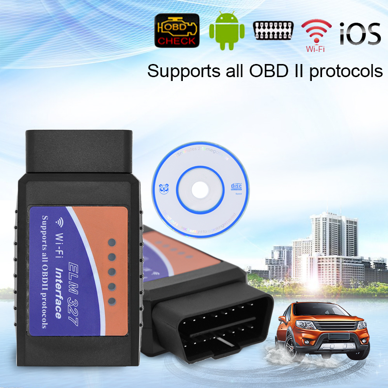 WIFI ELM327 Wireless OBD2 Auto Scanner Adapter Scan Tool For iPhone /iPad /iPod ...