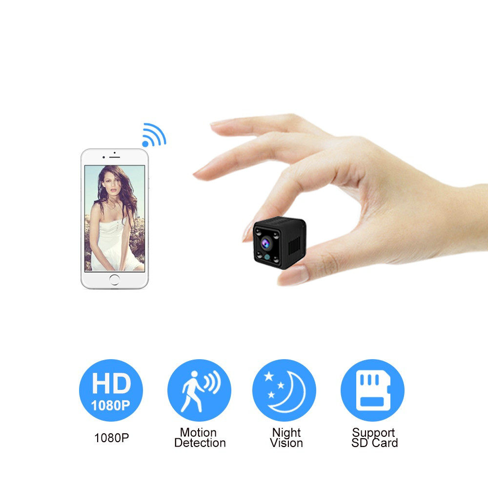 Mini WiFi Camera 1080P HD Security Wireless IP Camera Home Built-in Battery Night Vision Loop Video Recorder Mini CamcorderMini WiFi Camera 1080P HD Security Wireless IP Camera Home Built-in Battery Night Vision Loop Video Recorder Mini Camcorder
