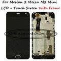 Black lcd + tp + quadro para meizu m2 meilan 2 meizu m2 mini display lcd com digitador da tela de toque do smartphone