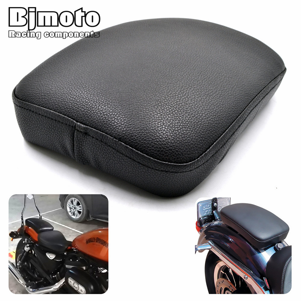 SC02-883 Rear Passenger Cushion 8 Suction Cups Pillion Pad Suction Seat For Harley Dyna Sportster Softail Touring XL 883 1200 universal black synthetic leather rear rivet passenger seat for harley sportster xl883 48 1200 2004 2015 c 5