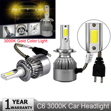PANYUE Super bright Auto Car H8 H11 H7 H4 H1 LED Headlights 3000K Cool white 72W 7600LM COB Bulbs Diodes Automobiles Parts Lamp