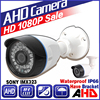 Ahd 720P 960P 1080p Security Surveillance Hd CCTV Camera 24day N Outdoor Waterproof IP66 Infrared Night