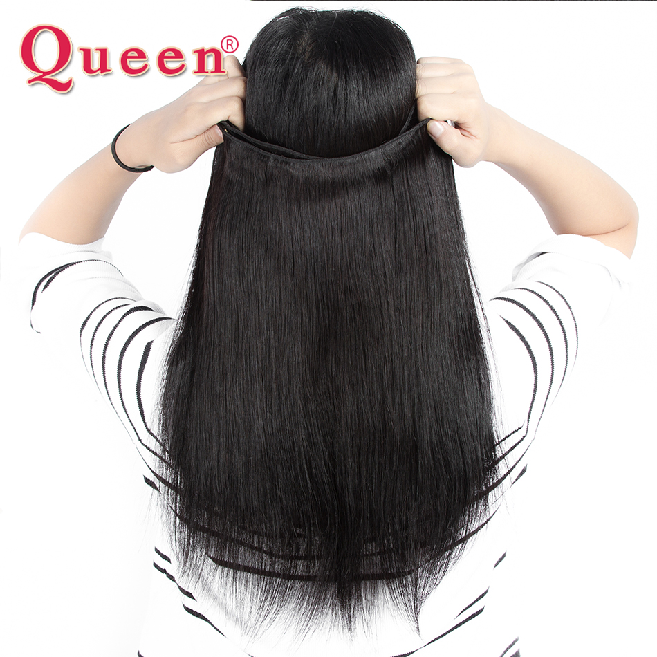 Queen Hair 4 Bundles Malaysian Straight Hair 100% Human Hair Weave Straight Bundles Double Weft Non Remy Hair Extensions