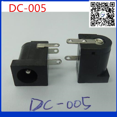 20pcs/lot Good Quality DC Jack DC-005 2.0 DC005 Power Socket, 5.5mm 2.1mm Flat Head Power Female Plug 5.5x2.1MM