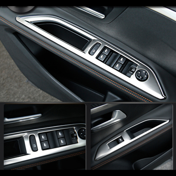 Acero inoxidable para Peugeot 3008 GT 2 2nd 2017 2018 interruptor de ventana de coche cubierta de cuadro de mandos embellecedor accesorios de estilo LHD