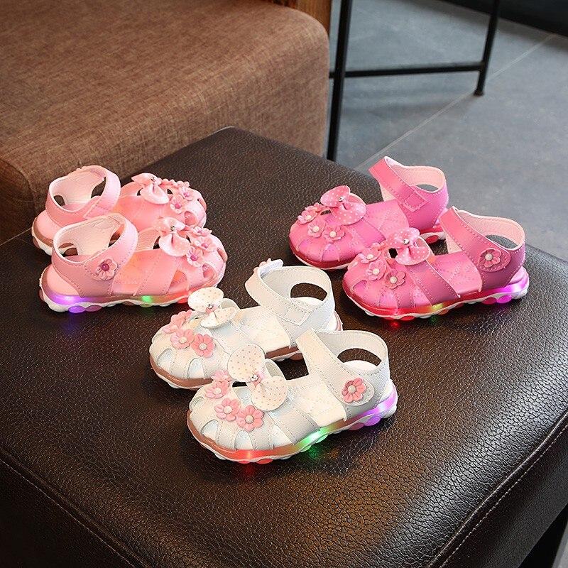 Sandals LED Lighting Glow PU Baby