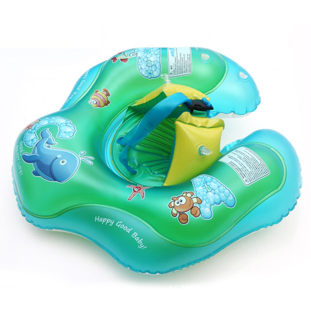 Environmentally Friendly Inflatable Baby Swimming Float Rollover Resistant Swimming Ring For 6 Months - 3 Years Old