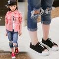 Новый Почтовый Shoes2016 Женские Туфли Холст Сандалии Дышащие Мальчики Девочки Обувь детская Тапочки Случайные Прилива кроссовки Дети