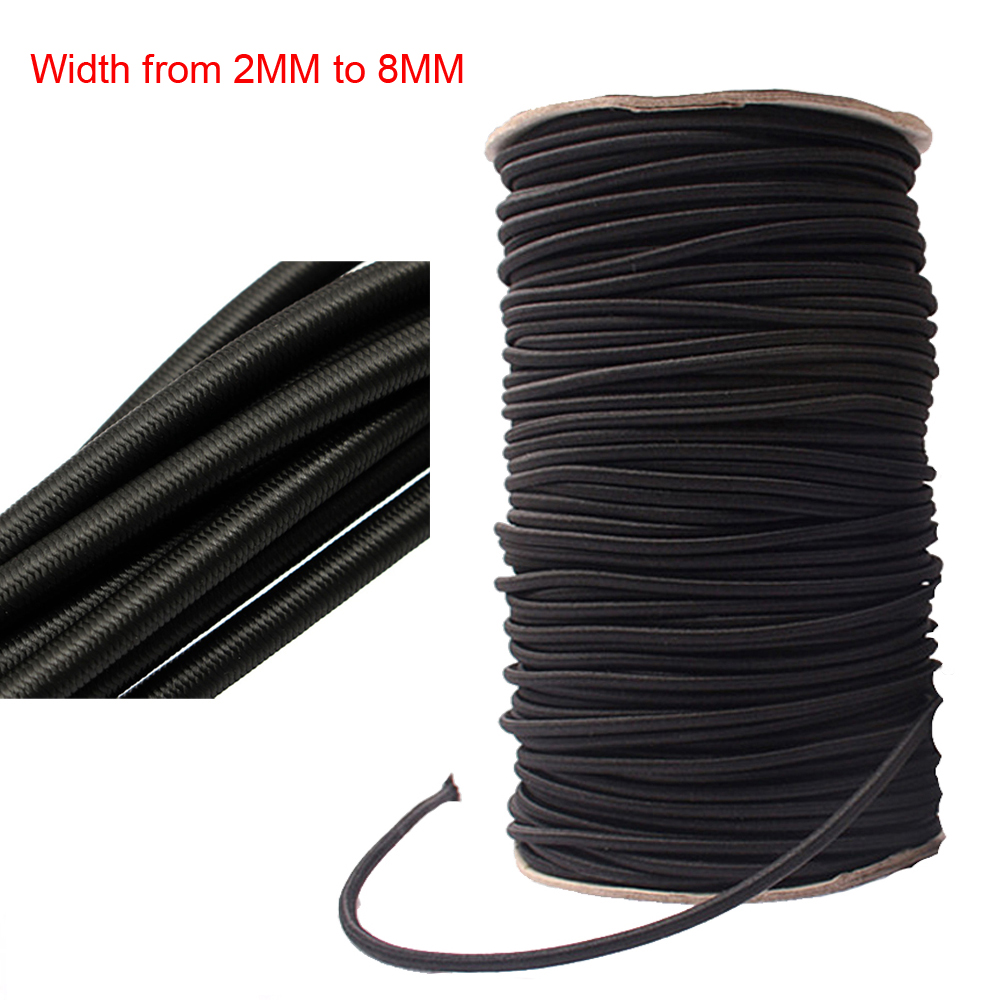 Sporting Goods Random Lengths Elastic Bungee Rope Shock Cord 3mm 4mm 5mm 6mm 8mm 10mm Outdoor Sports Official Website 50 Pack