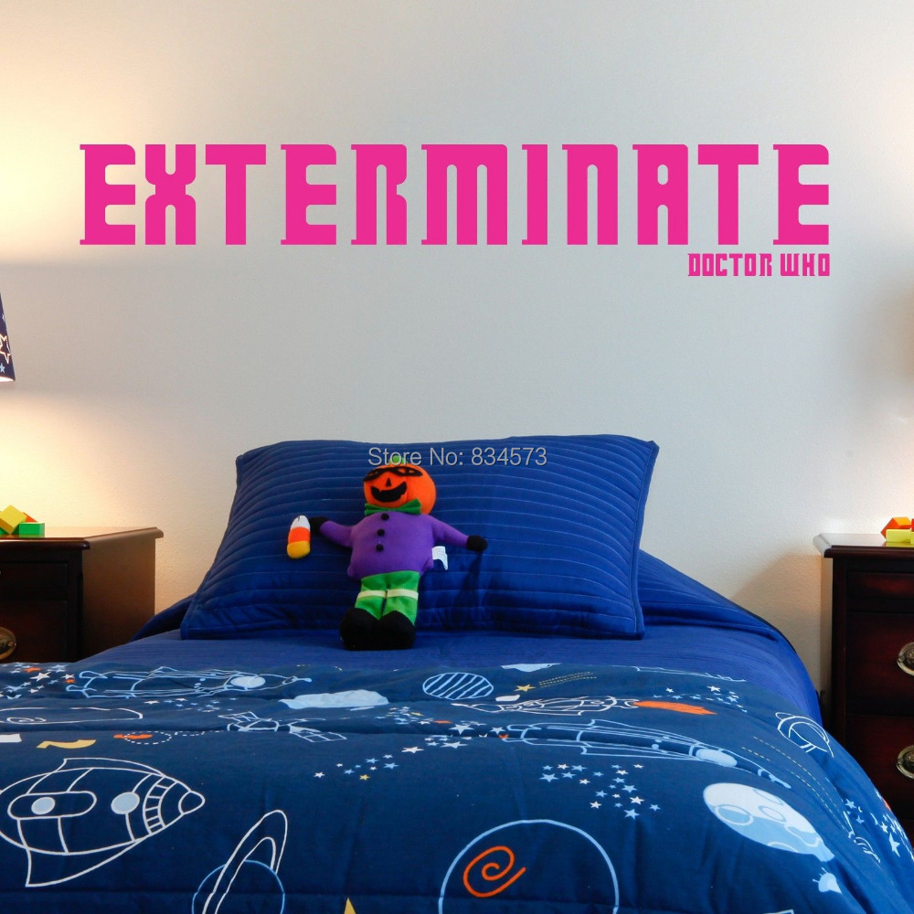 Aliexpress.com : Buy Hot Exterminate Doctor Who Wall Art Stickers Decal  Home DIY Decoration Decor Wall Mural Removable Bedroom Stickers 29X164cm  From ...