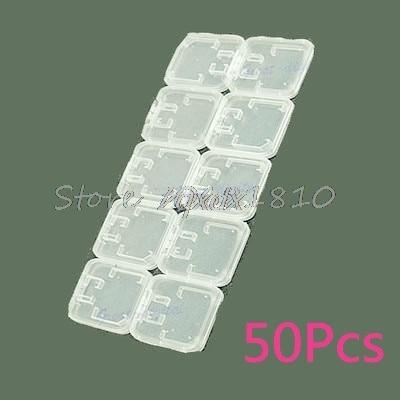 50Pcs TF Micro SD SDHC Memory Card Plastic Case White Whosale&Dropship