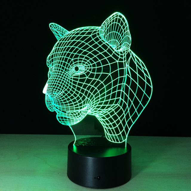 Pack de 40 unids ilusión 3D tiger Animal marco de la pantalla Táctil Led de luz de flash de juguete en la caja a través de DHL.