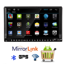 """2016New 7""""2din car dvd player Android 4.4 capacitive Quad core Car stereo GPS Bluetooth auto radio TV(optional) Wifi Hotspots"""