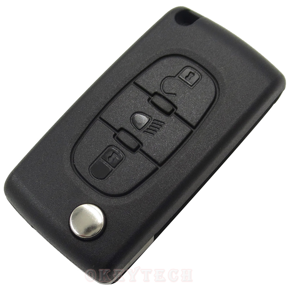 1pcs Lot 3 Button Car Remote Folding Flip Blade Key Fob